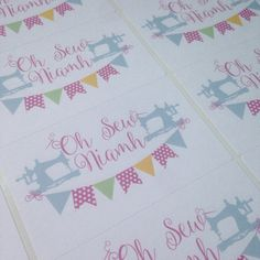 rectangle business labels business stickers by PaperSpaceBoutique