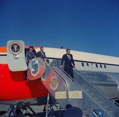 President Kennedy's arrival at Castle AFB 17 Aug Strategic Air Command, Korean War, Vietnam War, Cold War, Presidents, Monster Trucks, Fair Grounds, Castle, Travel