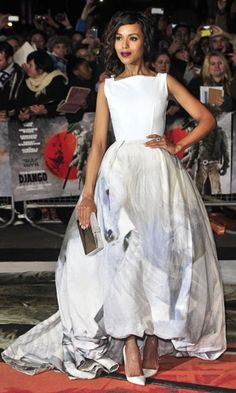 Kerry Washington in Giles Deacon and Christian Louboutin Batignolles
