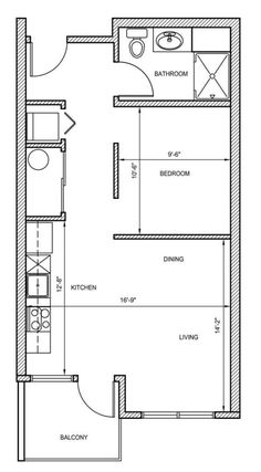 Apartment Studio Floor Plan Simple Floor Design Studio Apartment ...