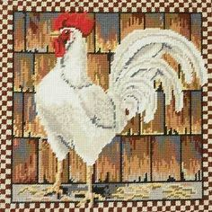 KAFFE-FASSETT-for-EHRMAN-Tapestry-Kit-White-Leghorn-New