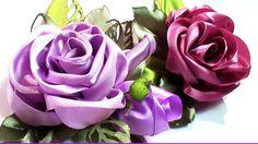 DIY ribbon flower tutorial, kanzashi rose, Как сделать розу из ленты 5 см