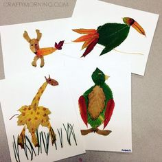 Leaf Animal Crafts to Make this Fall - Crafty Morning