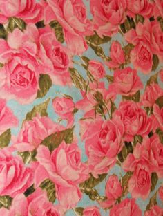 Cotton Pink Rose Shabby Chic Fabric 1 Yard Jane Shasky By MilanItzel On Etsy