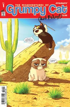 Grumpy Cat is getting a comic! The Misadventures of Grumpy Cat (and Pokey!) is a three part, grumptastic comic miniseries coming out this Fall! Rare Comic Books, Comic Book Heroes, Revolution, Grumpy Cat Humor, Grumpy Cats, Kitty Cats, Cat Memes, Funny Memes, Hilarious
