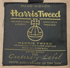 Harris Tweed - fiber from Scottish Blackface Sheep Harris Tweed, Outer Hebrides, Textiles Techniques, Scottish Islands, Scottish Tartans, Clothing Labels, Vintage Labels, Stone Carving, British Style