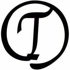 Silhouette Design Store - View Design #40766: round flourish monogram - t