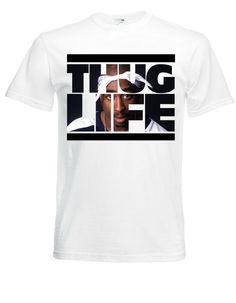 WANT!  THUG LIFE Sign 2Pac White New TShirt by TShirtLand on Etsy, $9.99