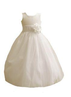 Classykidzshop Ivory Satin Tulle Flower Girl Dress with Ivory Sash - 2T Classykidzshop,http://www.amazon.com/dp/B00CKJ8PTM/ref=cm_sw_r_pi_dp_hlvNrb0NN8TBXMR7