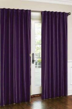 Purple Bedroom Window Curtains