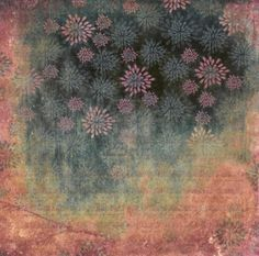 Grunge flowers abstract background Stock Photo
