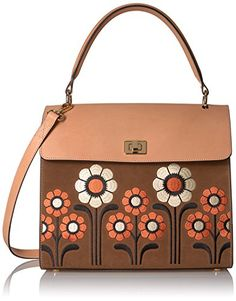 8883c65d0d Orla Kiely Suede Embroidery Large Cicely Bag, Coffee * Read more at the  image link.