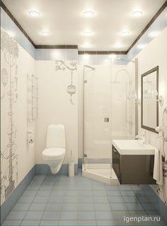 #дизайн #ванной в квартире-студии в ЖК «Московские Рудники». Дизайнер: Марина Саркисян. http://igenplan.ru/interior/kvartira-kottedzh/simfoniya-v-sinem1537/