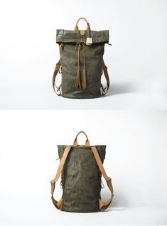Leather backpack for Men Gray Leather Backpack door KiliDesign