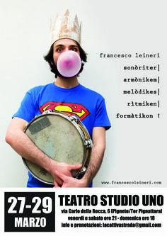 Teatro Studio Uno presenta, Sonòriter | Armònikem | Melòdikes | Rìtmiken | Formàtikon #Inscena |