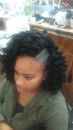 Jamaican bounce crochet! Curly Crochet Hair Styles, Crochet Braids Hairstyles, African Braids Hairstyles, Braided Hairstyles, Protective Hairstyles For Natural Hair, Natural Hair Updo, Natural Hair Styles, Short Hair Styles, Woman Hairstyles