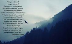 Wings Like Eagles Isaiah 40:28-31