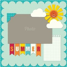 Silhouette Design Store - View Design #20249: summer page layout