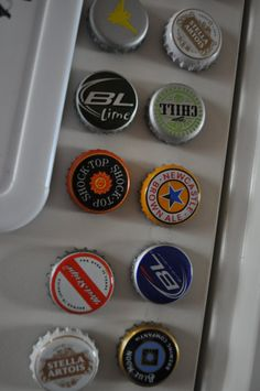 Beer Bottle cap magnets!