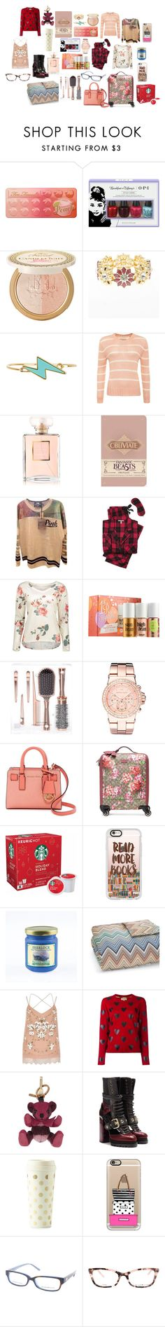 """""""Dream Closet:Christmas Haul"""" by stephaniefb ❤ liked on Polyvore featuring Too Faced Cosmetics, OPI, Charlotte Russe, Marc by Marc Jacobs, Superdry, Chanel, Victoria's Secret, Benefit, Michael Kors and MICHAEL Michael Kors"""