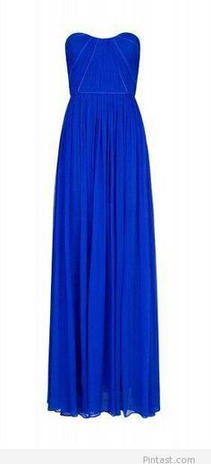 Blue long dress for ladies