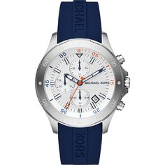 Michael Kors Walsh Chronograph Watch - Blue - Men's Watches (76 KWD) ❤ liked on Polyvore featuring men's fashion, men's jewelry, men's watches, blue, mens chronograph watches, michael kors mens watches, mens watches jewelry and mens blue watches