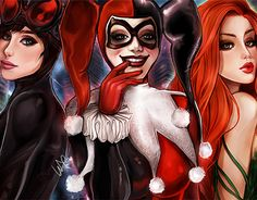 The sirens of Gotham City are ready for action! by Whitney Jiar