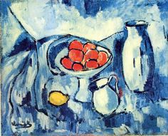"""Still Life with Fruit, Jug and Vase"" / Maurice de Vlaminck (1876-1958)"