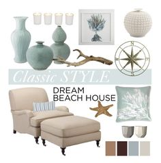 A home decor collage from September 2016 featuring handmade chairs, handmade home decor and floral home decor. Browse and shop related looks. Beach House Style, Beach House Decor, Home Decor, Beach Condo, Home Design, Interior Design, Interior Decorating, Design Ideas, Coastal Living Rooms