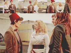 5x13 - The Big Bang  River: I have questions, but number one is this: what in the name of sanity have you got on your head?  The Doctor: It's a fez. I wear a fez now. Fezzes are cool.