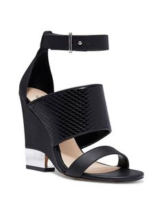 Covered Ankle-strap WedgeSandals by VS Collection