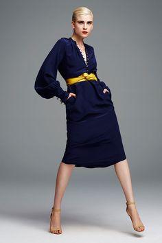 Tribune Standard navy silk dress