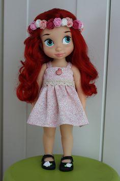 Roze en witte jurk voor poppen Disney Animator door LidMemories