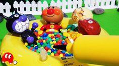 ふんわりエアー アンパンマン フライングディスクとお風呂にして遊んでみた!メロンパンナちゃん嬉しそう!アニメ&おもちゃ トイキッズ
