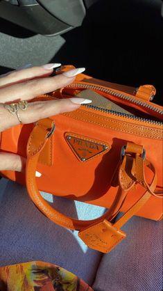 Luxury Purses, Luxury Bags, Sacs Design, Orange Aesthetic, Cute Purses, Cute Bags, Prada Bag, My Bags, Purses And Handbags