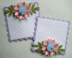 Flower Cards, Paper Flowers, Handmade Gift Tags, Candy Cards, Embossed Cards, Scrapbook Embellishments, Card Tags, Paper Cards, Scrapbook Cards