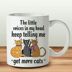 Crazy Cat Lady, Crazy Cats, Mugs, Illustration, Tumblers, Illustrations, Mug, Cups