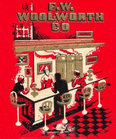 woolworth co.  I would go with my grandmother shopping, and my treat was to go to Woolworth's Counter to have lunch.  A hamburger and a coke!  What a great experience!