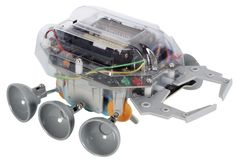 A series of Robot Kits for the future engineer. Build this kit and find out how much fun electronics, mechanics or hydraulics can be! Scarab is a robot that uses 2 touch sensors to detect obstacles.
