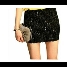 Convertible mini skirt or top Sexy Glitter Sequin Women Bandage BodyCon Short Mini skirt Funoc Skirts Mini
