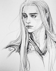 King Thranduil of Mirkwood from The Hobbit drawing