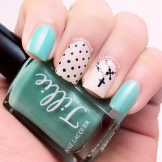 Polka Dots & cross Necklace Mani ♥✤ ➳ bedizzle