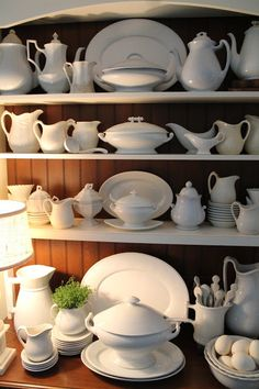 Collecting White Ironstone - info on dating ironstone - via The Polohouse: White Ironstone