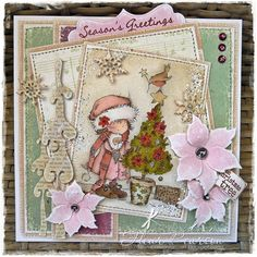 Christmas, New Year Dyi Christmas Cards, Christmas Paper, Handmade Christmas, Christmas Crafts, Image Paper, Heartfelt Creations, Card Making Inspiration, Creative Cards, Cute Cards
