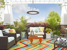 Entertaining Space - How to Spruce Up a Back Porch on HGTV