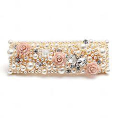 Gorgeous Alloy With Rhinestones / Imitation Pearl Wedding Barrette