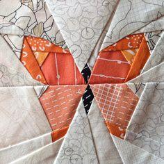 Blueberry Park mini swap - butterfly charm block
