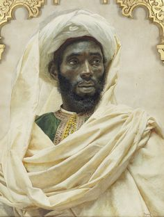 Portrait of north African by Spanish artist José Tapiro y Baro Black History Facts, Art History, African History, African Art, Spanish Artists, African Diaspora, African American History, Art Plastique, Black People