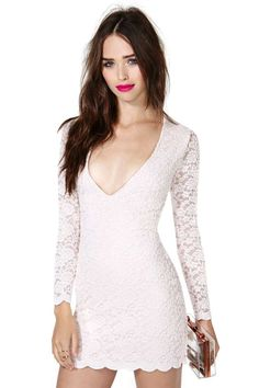 That neckline & lace detailing though..  Nasty Gal Whisper To Me Dress