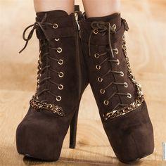 Bottines women brown heels 13 cm size 39, online buy Bottines woman MODATOI